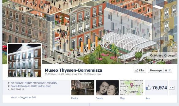Perfil en Facebook del Museo Thyssen
