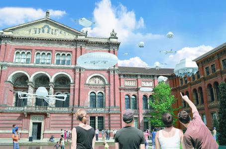 """Recreación """"The Drone Aviary"""". Museo Victoria & Albert, Londres."""