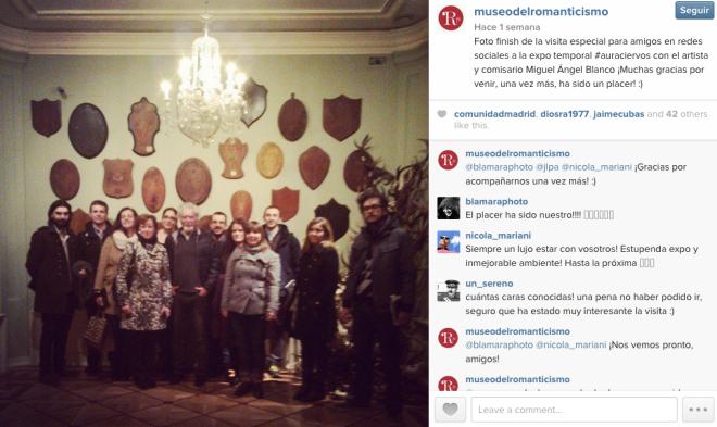 museo del romanticismo Instagram visita bloggers