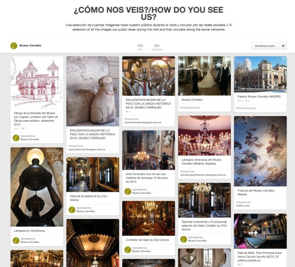 """Tablero ¿Cómo nos veis"""" de la cuenta de Pinterest del Museo Cerralbo"""