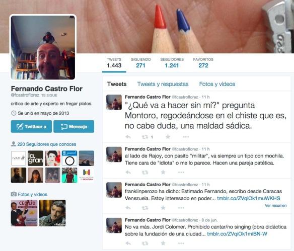 Perfil de Twitter de Fernando Castro Flórez